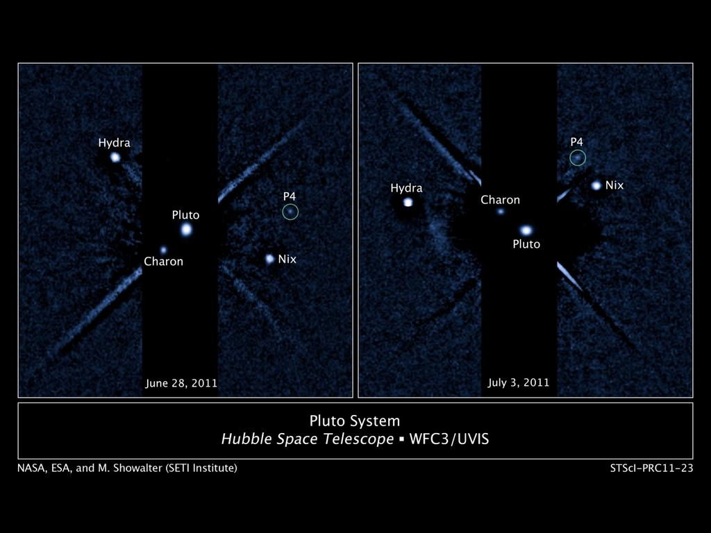 Pluto has 5 moons HST imaging, fourth moon