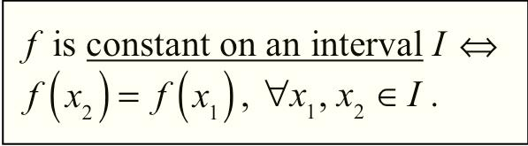 f decreases on an interval I x 2 > x 1 implies that f ( x 2 )< f ( x 1 ), x 1, x 2 I. f increases on the interval 1, ).