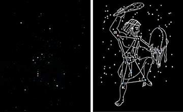 An example of a constellation: Orion the Hunter