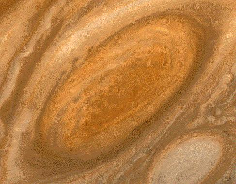 It has just a 10 hour day! It takes almost 12 years to revolve around the sun. Jupiter s most famous feature is its giant (Earthsized) red spot.
