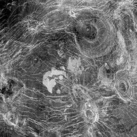 used radar to look through the clouds. Magellan mapped and photographed the surface of Venus.
