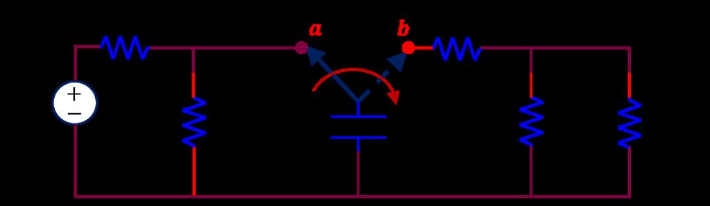 Problem 2) For the circuit shown, the capacitor stays in position (aa) for a long time before it is switched to