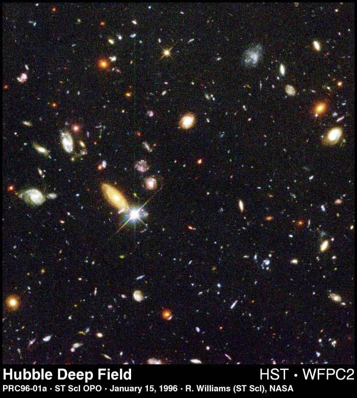 This image reveals 100s of galaxies in just a tiny area of sky (the whole sky contains 12.