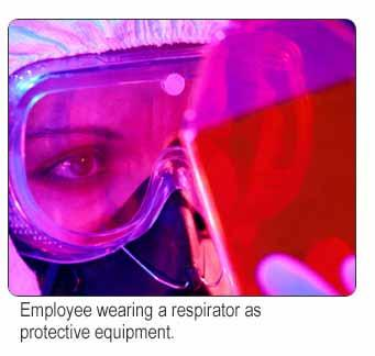 5007 Types of PPE: Respiratory Equipment Respirators cover the mouth and nose. They prevent inhalation of hazardous substances.