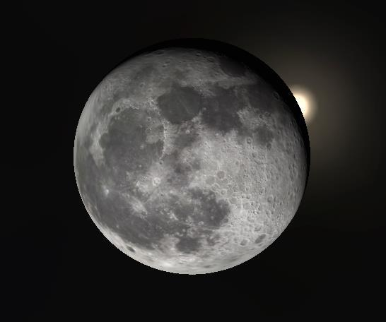 The Moon will be 95% illuminated and only 8º above the E-SE horizon as the occultation begins.