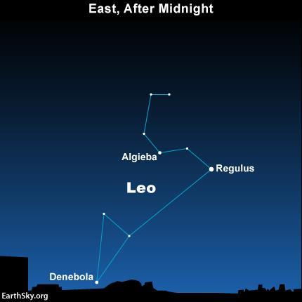 November 2017 Sky Events Leonid Meteor Shower The constellation Leo is rising in the east after midnight on the
