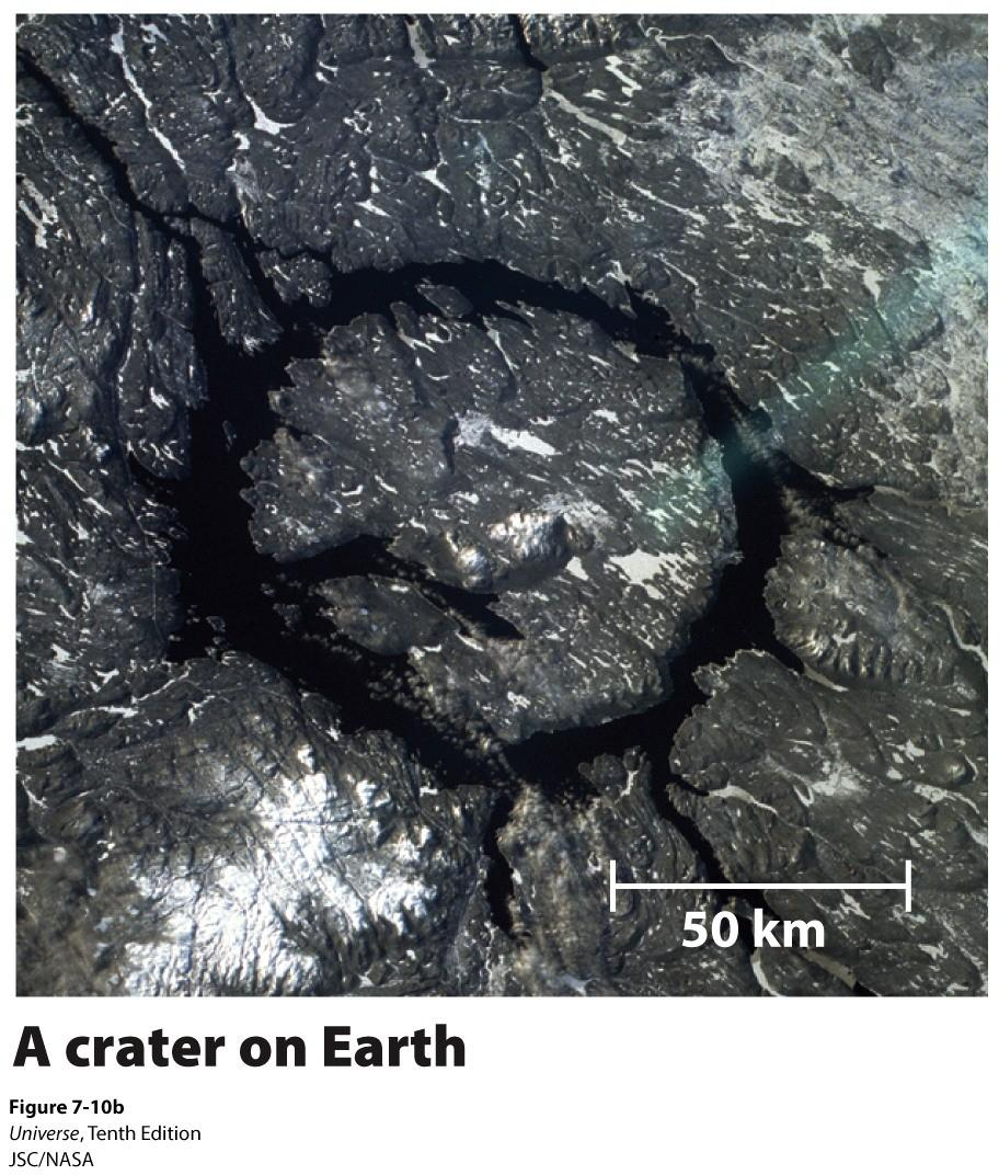 Craters on Planets and Moons Why don't we see more craters on the Earth?