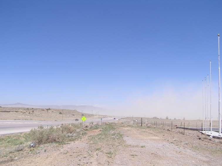 One of the may impacts of drought Dust storm lasted >6 hours and