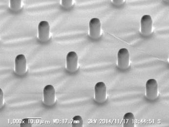 9 PDMS 5 µm 5 µm 5 µm SEM images of (a) ~ (c) pillar-structured PDMS
