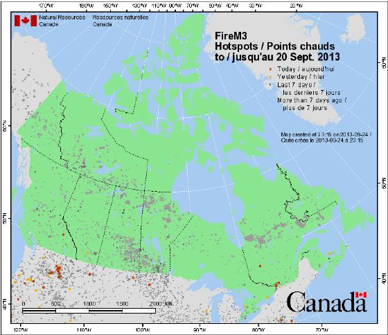 2013 Prediction Most of the activity and area burned occurred in Manitoba