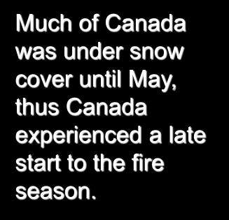 Overwinter Snowfall Much of Canada was under