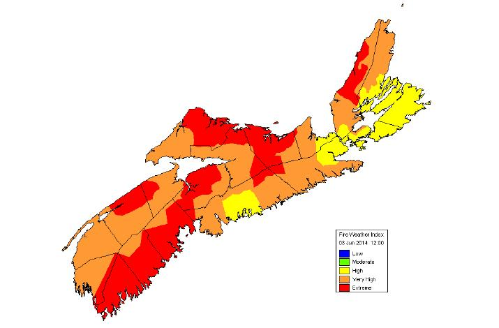 Current Conditions - Nova Scotia Fire weather