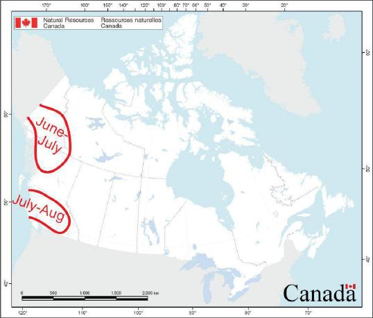 This map was constructed May 1 for Canada.