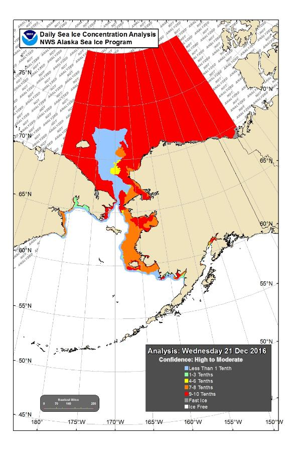 Mid-December Sea Ice