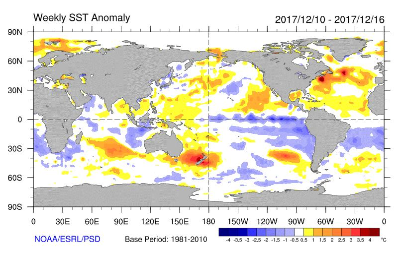Global SST Anomalies Not much of a PDO Pattern
