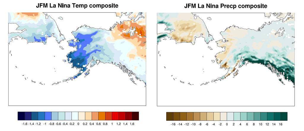 Recent La Niña Composites for JFM 1984, 1985, 1996, 1999, 2001, 2008, 2011,