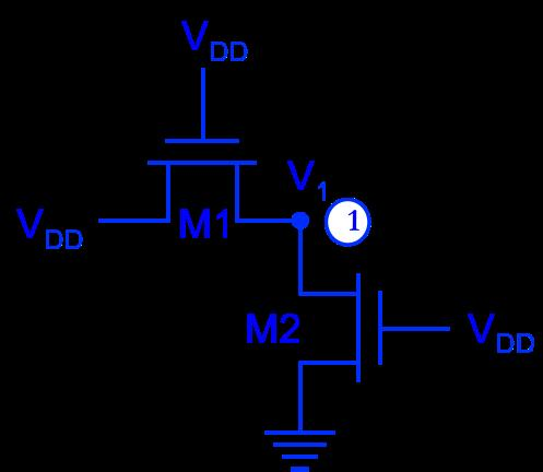 (c) Assume Node 1 is a storage node and NMOS M1 connects to a bidirectional bit line.