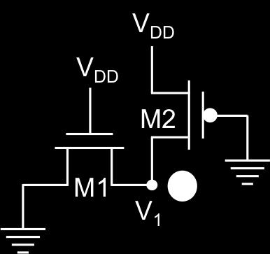 Simplify the equation but you do not need to solve for V 1. During write, WWL high and V 1 charged through current path through M1 and nmos in inverter in cell; call it M.
