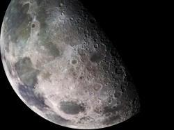 billion years ago, when the Moon was much more volcanically active. When you see the Moon from here on Earth, the atmosphere partially blocks your view.