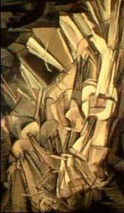 "Nude Descending a Staircase Marcel Duchamp (1912) ""Nude Descending a Staircase"" X. J."