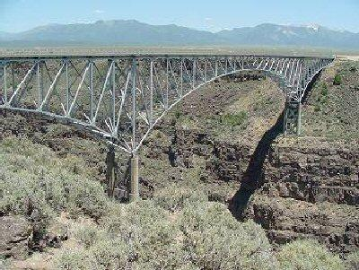 "Part 1: Location Information Rio Grande Gorge Bridge Taos, NM Part 2: Location History Built in 1965, it was called the ""Bridge to Nowhere,"" as there was not enough funding to continue the road from"