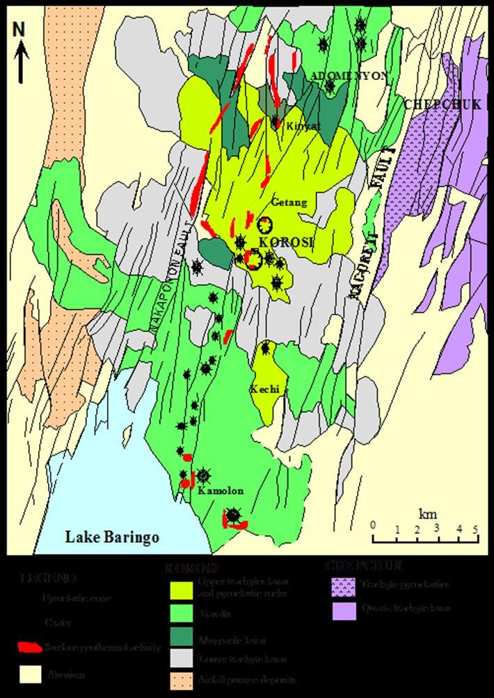 rocks, hydrogeological controls and possible capping formation. 3.