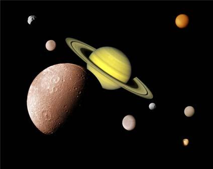 The Moons Jupiter & Saturn Earth 1 Mars 2 Jupiter 63 Saturn 47 Uranus 27 Neptune 13 Pluto 3 Moons of