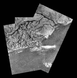 Huygens finds flow channels on Titan Images