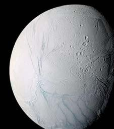 moderatesized moons circle Saturn in regular orbits: Mimas, Enceladus, Tethys, Dione, Rhea, and Iapetus They are probably