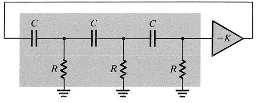 Phase Shift Oscillator The circuit oscillates at the frequency for which the phase shift of the RC network is 8 Only at this frequency will the total phase shift around the loop be or 36 The minimum