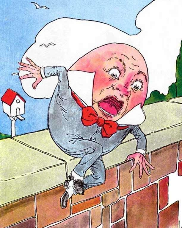 humpty dumpty shoved in mid