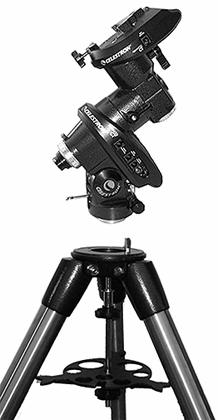Attaching the Equatorial Mount The equatorial mount allows you to tilt the telescope s axis of rotation so that you can track the stars as they move across the sky.