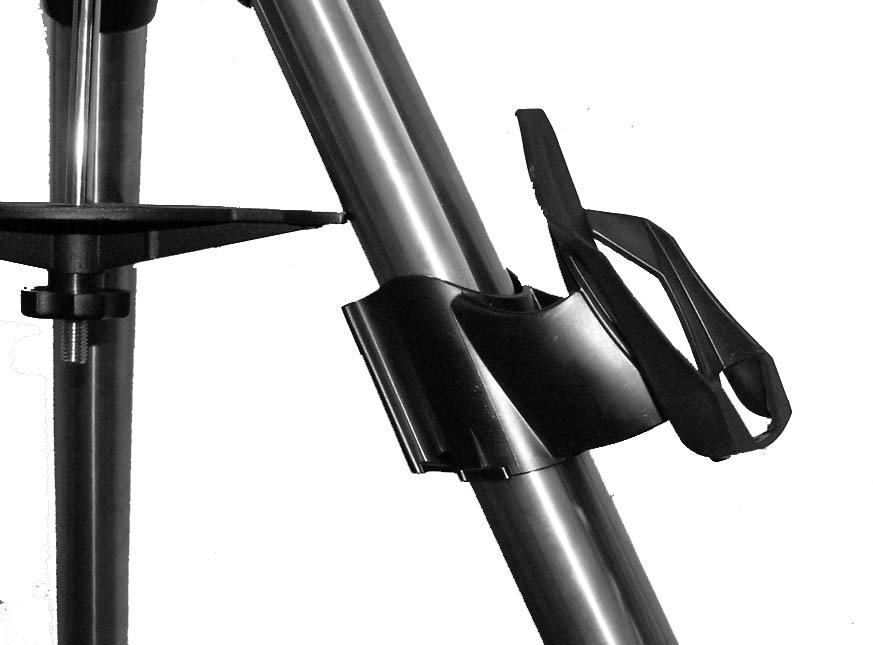 Since the fully assembled telescope can be quite heavy, position the mount so that the polar axis is pointing towards north before the tube assembly and counterweights are attached.