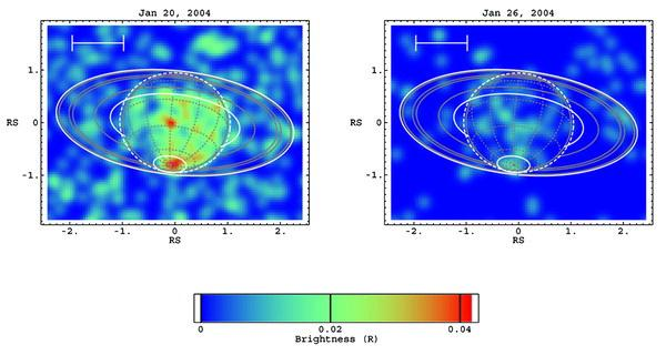 On Saturn Disk and polar cap X-ray emissions have