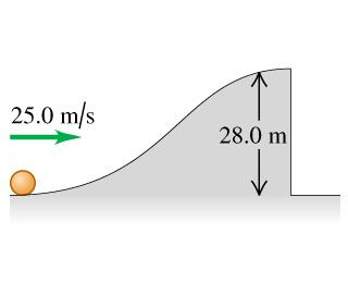 How far from the foot of the cliff does the ball land? l = 36.5 m How fast is it moving just before it lands? v = 28.0 m/s Problem 10.