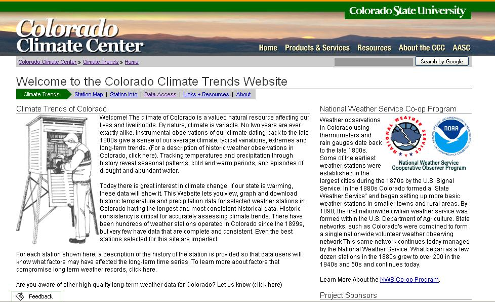 Coming Soon: Climate Trends Website Access Colorado long-term