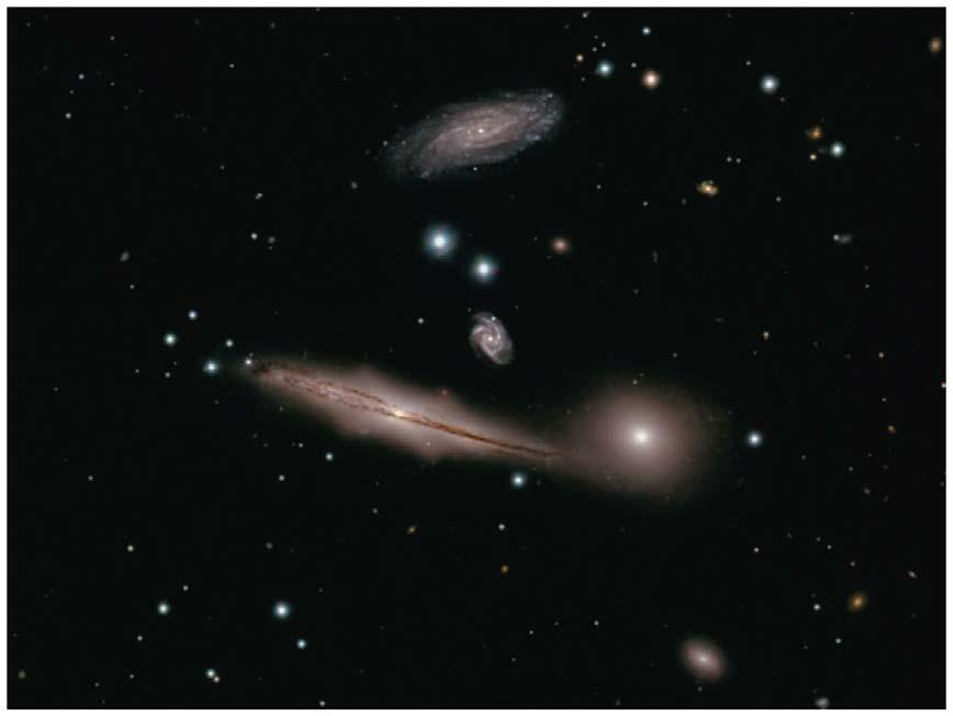 Spiral galaxies are often found in groups