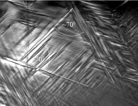B. Kosturek et al. Structure and Phase Transition of (TRIS) 2 SiF Crystals 123 plane of the distorted polyhedron. One of the peaks, fulfilling the bond distance conditions, was taken as the F(2) atom.
