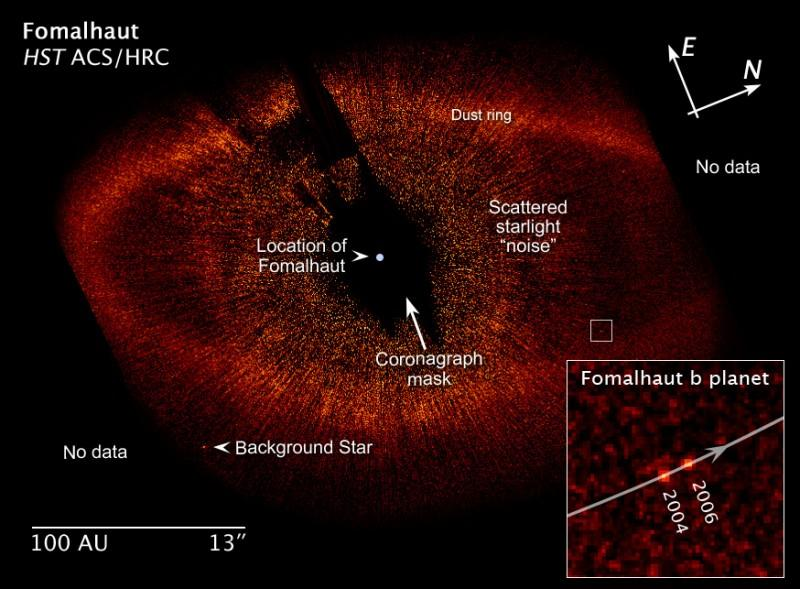 is always fainter than the star, but at infrared wavelengths the relative