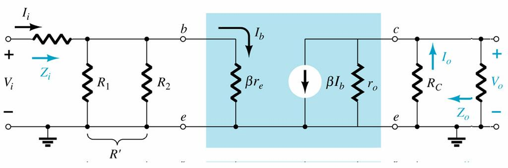 Voltage divider with R S and R L Voltage gain: Input Impedance: