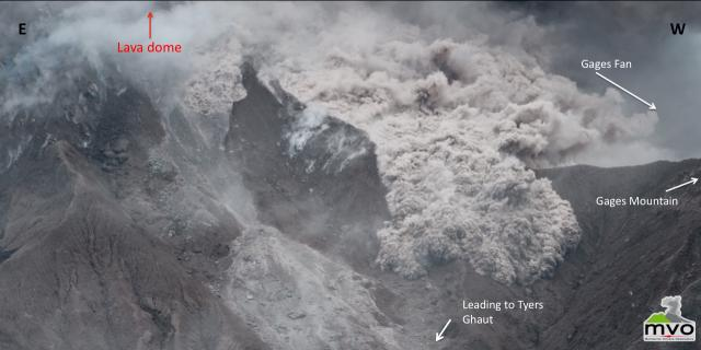 Activity Report - 4 December 2009 Pyroclastic flows in the head of Tyers Ghaut Over the last few days small pyroclastic flows and rockfalls have been increasing in frequency in the Tyers Ghaut region.