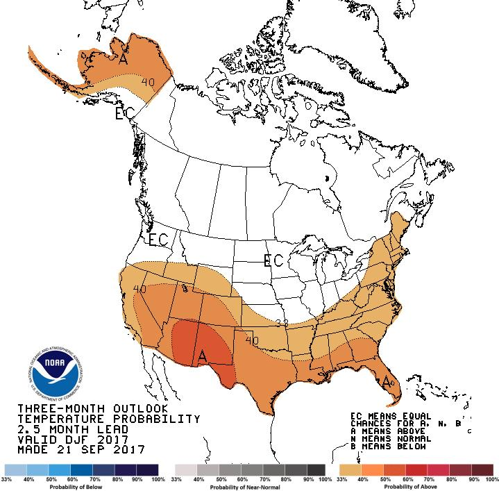 December 2017 February 2018 Temperature Outlook N New York Below: 32% Near: 33% Above: 35% C.