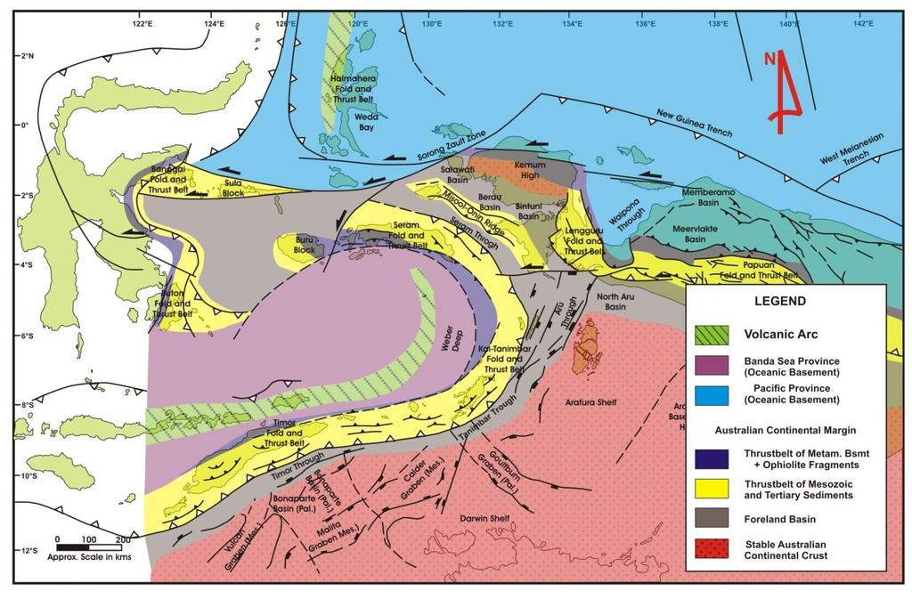 REGIONAL TECTONIC SETTING Tectonic elements and structural provinces of Eastern Indonesia region (Barber, et.