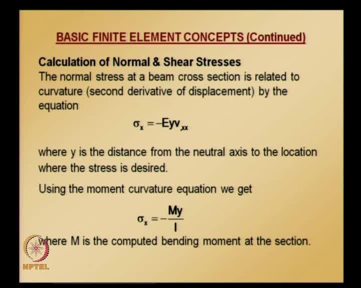 (Refer Slide Time: 31:42) Now, let us see how to calculate stresses in beams calculation of a normal and shear stresses.