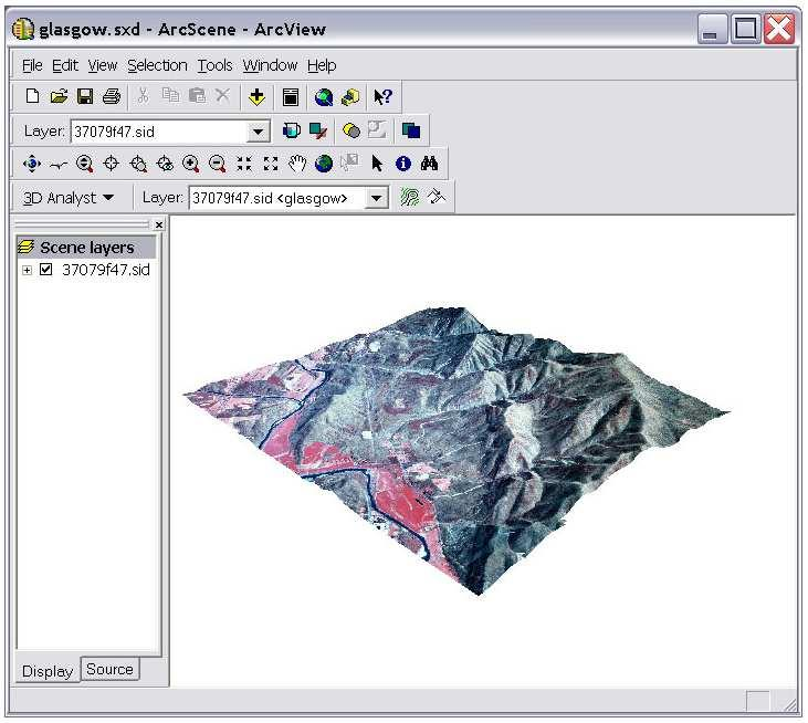 Surfaces in ArcGIS Display in ArcMap (2-D) and ArcScene and ArcGlobe (3-D) (and ArcGIS Pro) Process