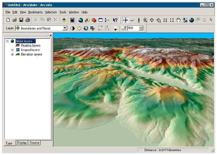 3-D Data in ArcGIS Multiple layers