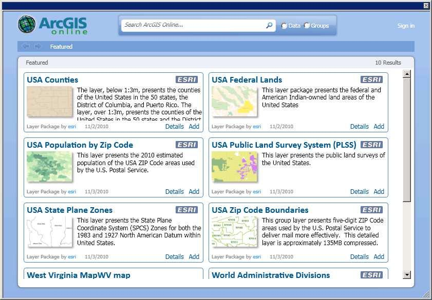 ArcGIS Online Click Add to add image