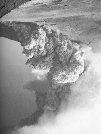 Pyroclastic Flows Pyroclastic flows occurred during the 9 hour