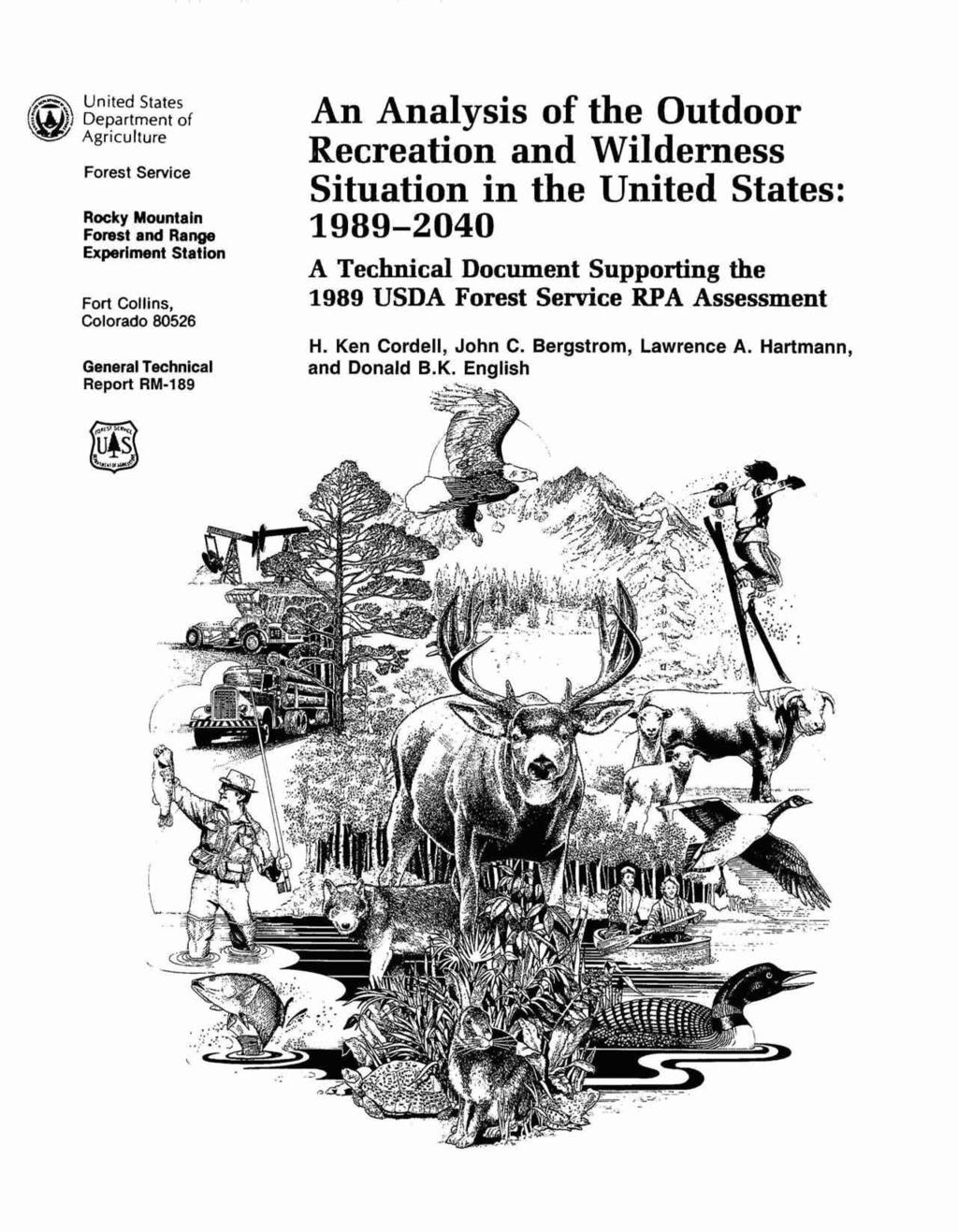 {rn w United States Department of Agriculture Forest Service Rocky Mountaln Forest and Range Experiment Station Fort Collins, Colorado 80526 General Technical Report RM-f 89 This file was created by