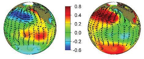 PDO + PDO - Figure 1c. Differences in SST during positive and negative phases of PDO.